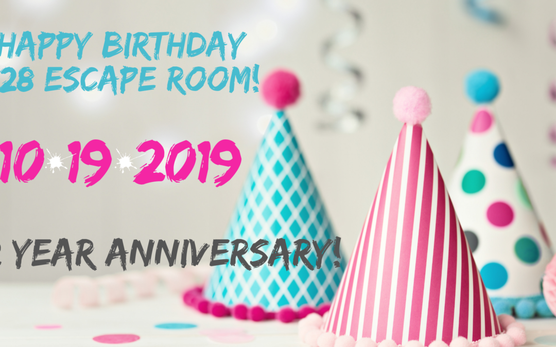 HAPPY BIRTHDAY 828 ESCAPE ROOM!!​